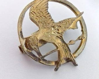 Vintage brooch, Vintage fan brooch, Fan brooch, Brooch film, Brooch from film, Hummingbird, Battle War, Brooch  The Hunger Games Mockingjay