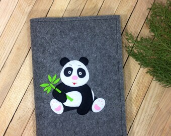 Felt Diary Cover, Fabric Planner Cover, Felt Cover A5, Felt Journal Refillable, Reusable Notebook Case, Journal Cover, Kawaii Panda Cover