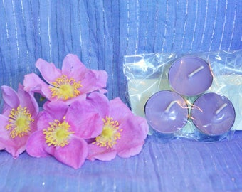 Purple Meditation Tealight Candles (Set of 3)