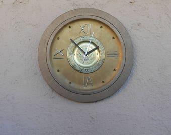 "CLOCK ROMAN FORKS 14"" / Personal wall clock / Wall clock hand painted / wall clock life"