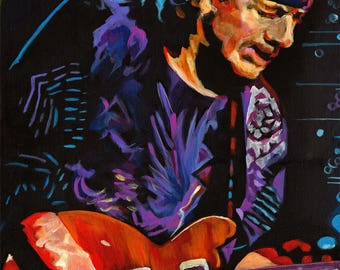 Framed Carlos Santana 11x17 Black Slim