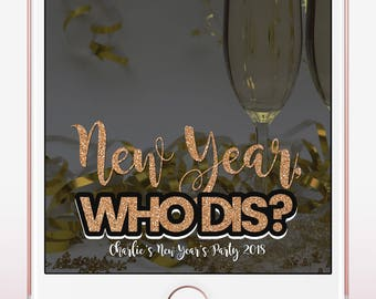 New Year Snapchat Geofilter, New Year's Eve Snapchat Filter, Custom Geofilter