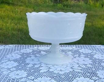 E.O Brody milk glass compote dish M6000