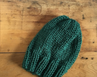 JANE Hat in Muted Teal | Cozy | Slouchy Hat