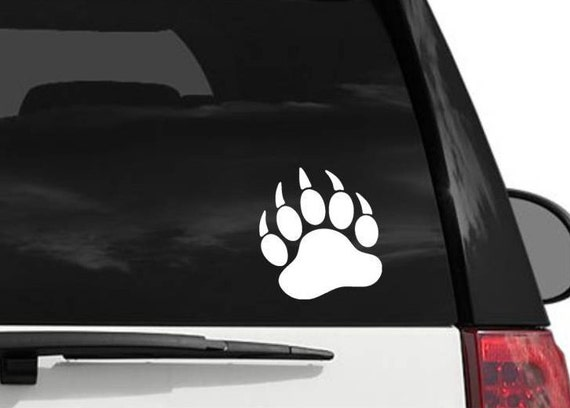 Bear Paw Decal Vinyl Decal For Your Car Window Laptop - Vinyl window clings for cars