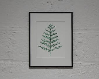 Fern Botanical Watercolor Illustration- Original Art Print