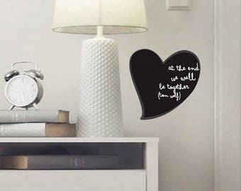 Valentine Heart, Teen Wolf, Quote TV Series, Italian Quote, Heart Wall Decal,, Fridge Magnet, Heart TV Series, Gift, Wall Decal