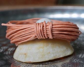 Waxed Cotton Cord, Peach