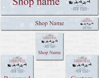 Etsy Store Banner, Christmas New Year, Store Graphics, Etsy Shop Banner, Avatar, Graphic Design, Shop Icon, New Year Set, Reserved, Custom