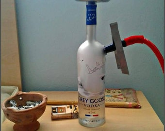 Chicha with vodka bottle