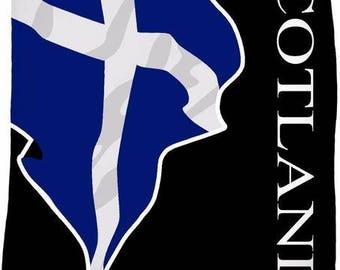 Scotland Custom Flag Fleece Blanket