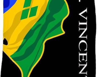 St. Vincent Custom Flag Fleece Blanket