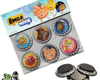 Emoji Magnets   Bottle Cap Magnets   Party Favors   Gift