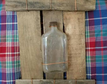 Handmade Antique Cork-Top Bottle with Copper Wiring - Decor