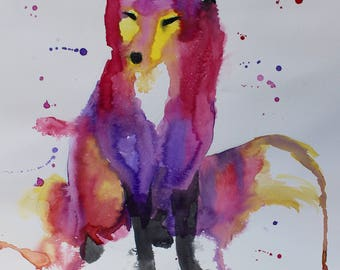 Wildflower (fox painting)