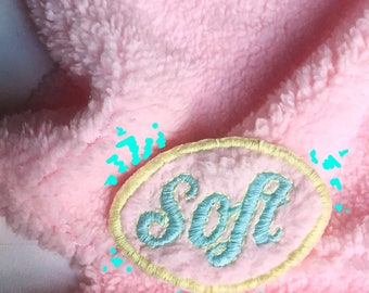 Soft Fluffy Embroidered Patch