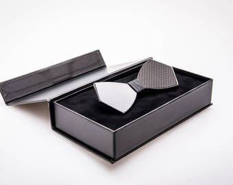 Carbon Fiber Bow Tie (Model No: 1002) (premium glossy black finish)