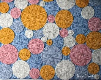 Crochet Rug, Crochet Carpet, Nursery Rug, Colorful Carpet, Pink, Blue,