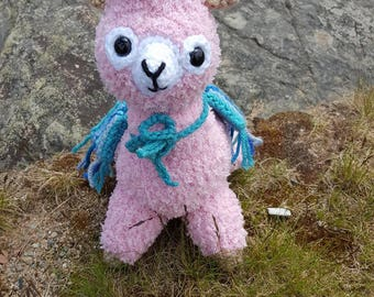 Stuffed fuzzy Alpaca Toy