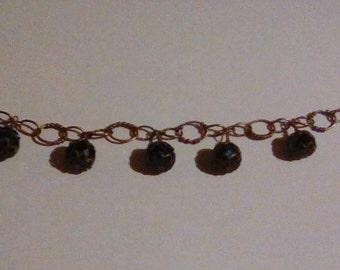 Earthy Oval-chain Dangle Bracelet
