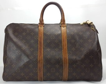 vintage [Louis Vuitton] Monogram keepall 45 travel hand bag M41428