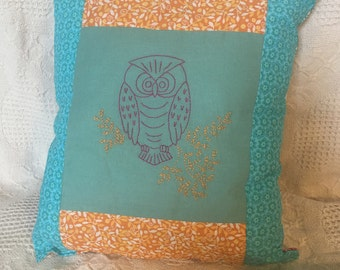 Owl pillow--one of a kind