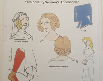 Reconstructing History Pattern #020: 14th Century Women's Accessories