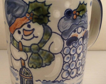 Louisville Stoneware Snowman Mug Made in Kentucky