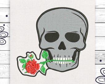 Sugar skull Discount 10% Machine embroidery design 4 sizes INSTANT DOWNLOAD EE5036