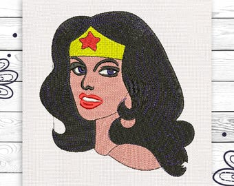 Wonder woman Embroidery design 4 sizes INSTANT DOWNLOAD EE5113