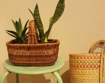 Small Vintage Wicker Basket