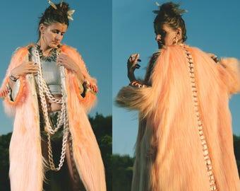 CURIOSITY Fur Coat | Burning Man | Festival clothes | Playa Jacket | Festival Costume | Faux fur coat | Kalifesta