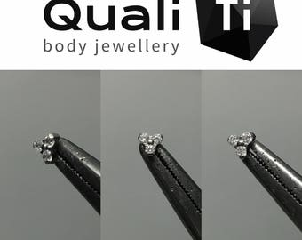 Cubic zirconia trio attachment with labret