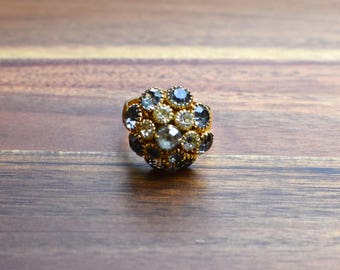 Vintage Sarah Coventry Ring, Multi-Rhinestone