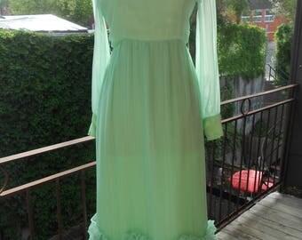 Mint Ruffle 60's Dress