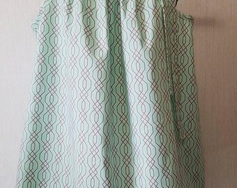 Mint and Gray Cotton Top