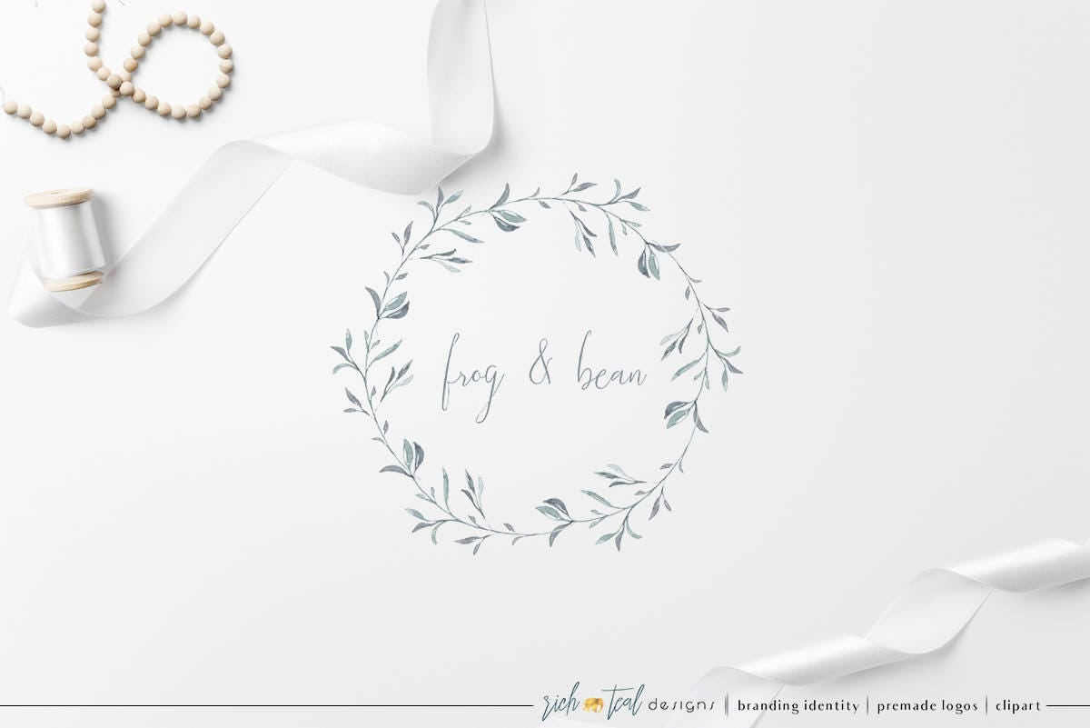 Premade Logo, Feminine Design, Florist, Weddings, Watercolor Logo, Brand  Design,