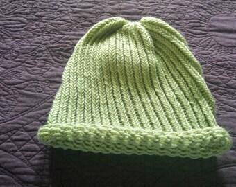 Sage green Child size hat