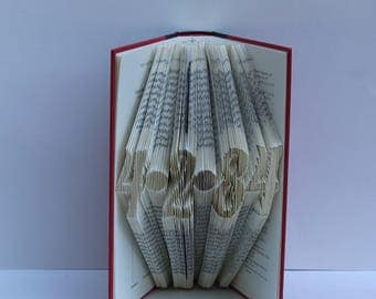 Personalized Date - Folded Book Art - Book Sculpture - Unique - Wedding - Anniversary - FREE SHIPPING