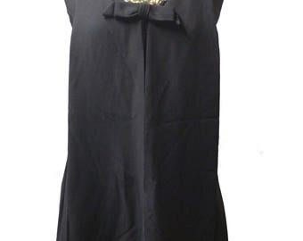 1970s Black Dress