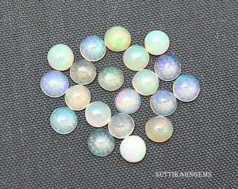 20 Piece 3.24 Cts natural opal cabochon round shape 3.7 mm to 4 mm loose gemstone