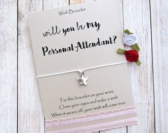 Personal Attendant Gift, Asking Attendant, Will you be my personal attendant, Be my Bridesmaid, Bridesmaid Gift, Wedding Attendant Gifts.