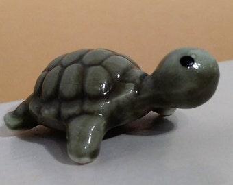 Vintage Tiny Turtle Bone China Figurine