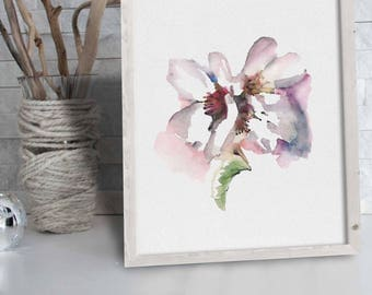 Cherry Blossom Wall Decor Flower Illustration Decor, Room Decor Cherry Blossom Art Decor Print Cherry Flower Wall Art Gift