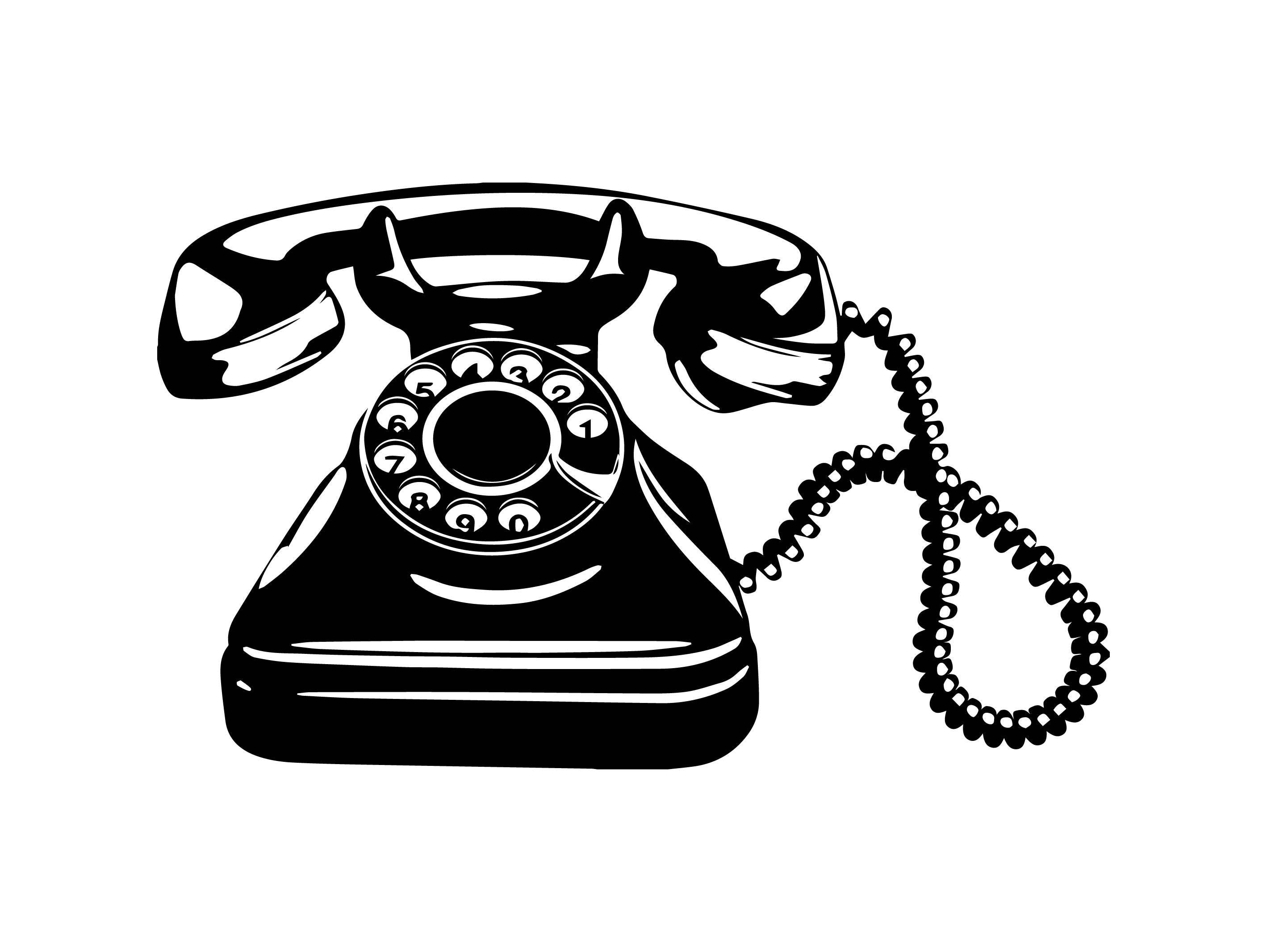 phone antique telephone retro old communication receiver classic  svg  eps  png vector space