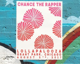 Chance the Rapper Lollapalooza Poster - All proceeds to the arts at CHICAGO PUBLIC SCHOOLS