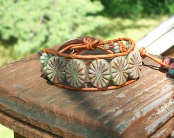 Oval Bead Wrap Bracelet