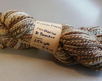 Hand-dyed handspun merino yarn