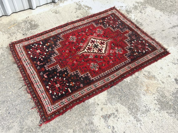 Vintage Handwoven Wool Rug | Vintage Home | Antique Decor | Persian | Textile | Free Domestic Shipping