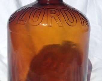 Amber Clorox Gallon Jug 1951-1954